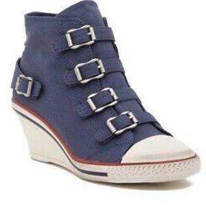 Ash | Genial wedge buckle sneaker in blue size 11